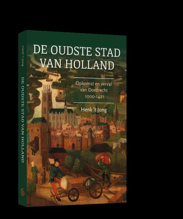Boek met afbeelding van Dordrecht van toen